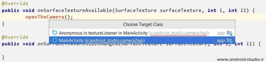 استفاده از متد openCamera در Camera2 API برای باز کردن دوربین