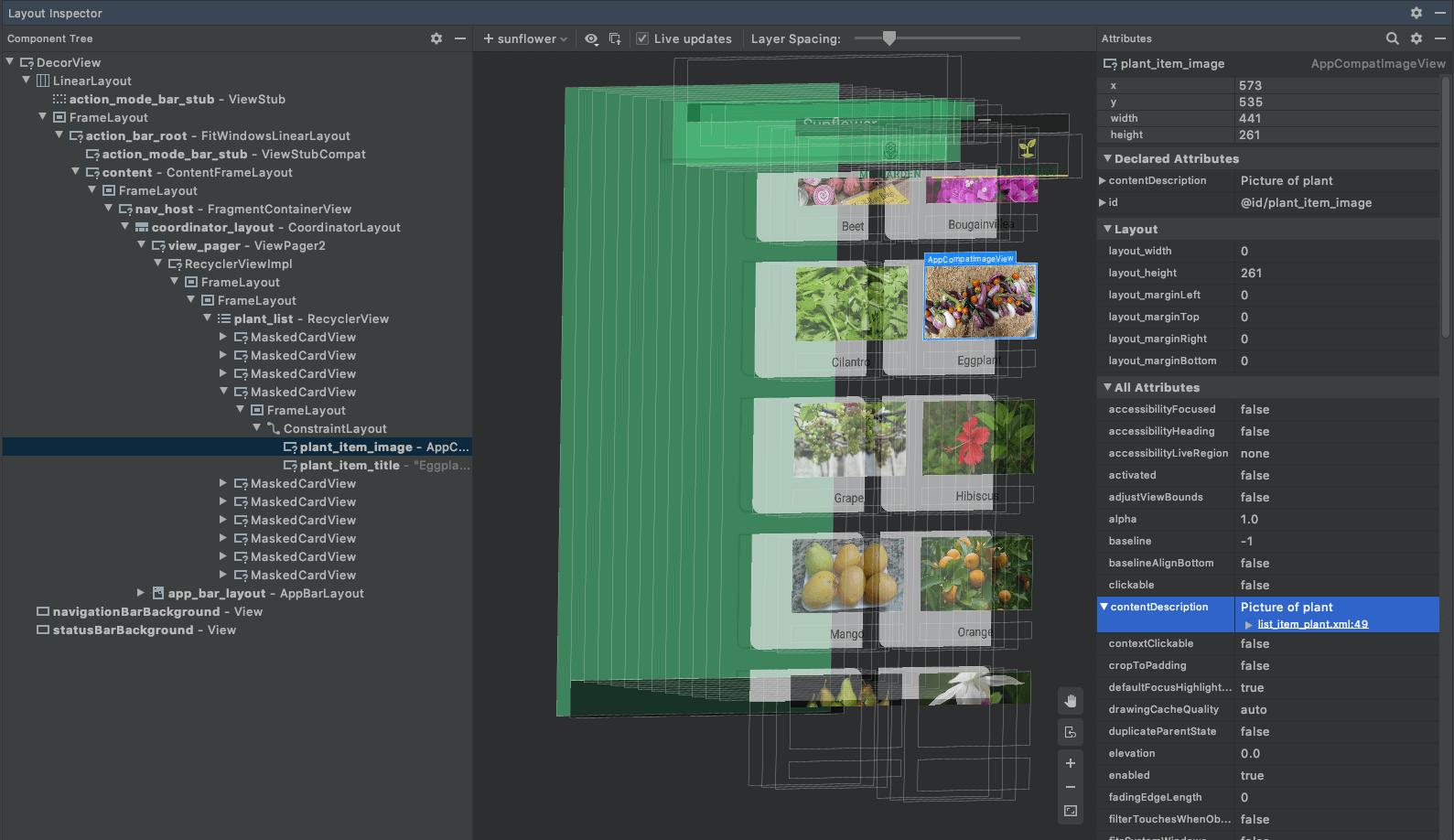 قابلیت Layout Inspector در اندروید استودیو نسخه 4