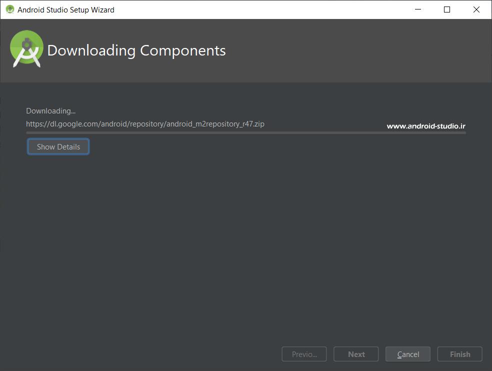 نصب آنلاین SDK اندروید استودیو