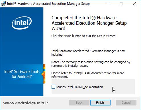 نصب Intel Hardware Accelerated Execution Manager