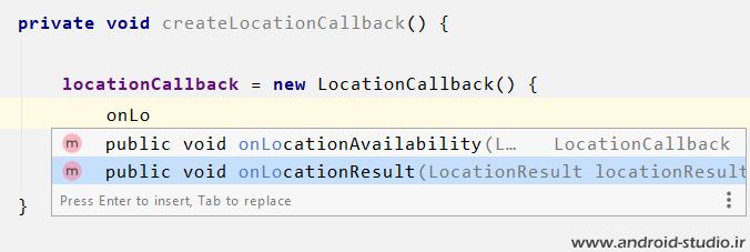 دریافت موقعیت مکانی در اندروید توسط متد LocationCallback