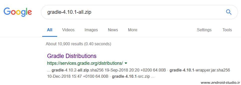 دانلود Gradle از gradle.org