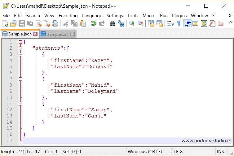 زبان JSON