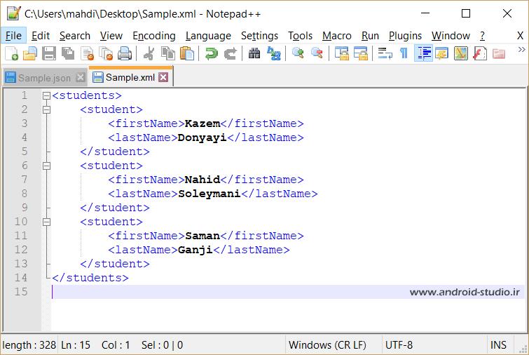 مقایسه فرمت JSON و XML
