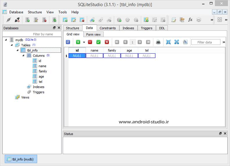 insert data to database