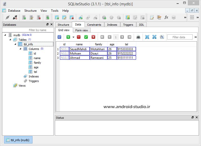 Data inserted