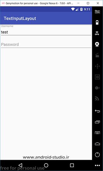 نمایش Error در EditText