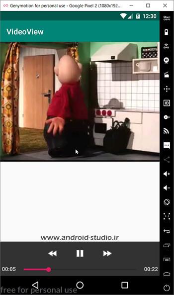 اضافه کردن MediaController به VideoView در اندروید استودیو