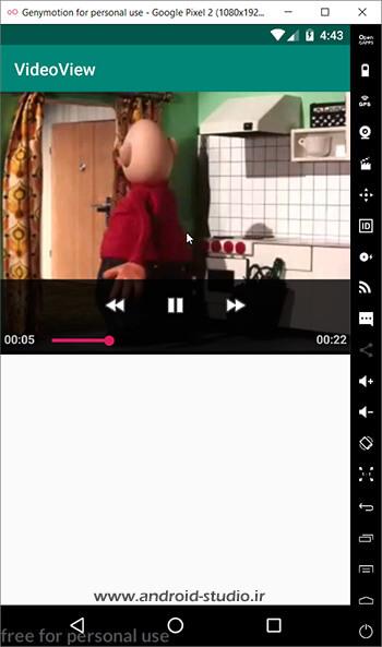 استفاده از setAnchorView برای قرار گرفتن MediaController روی ویدئو